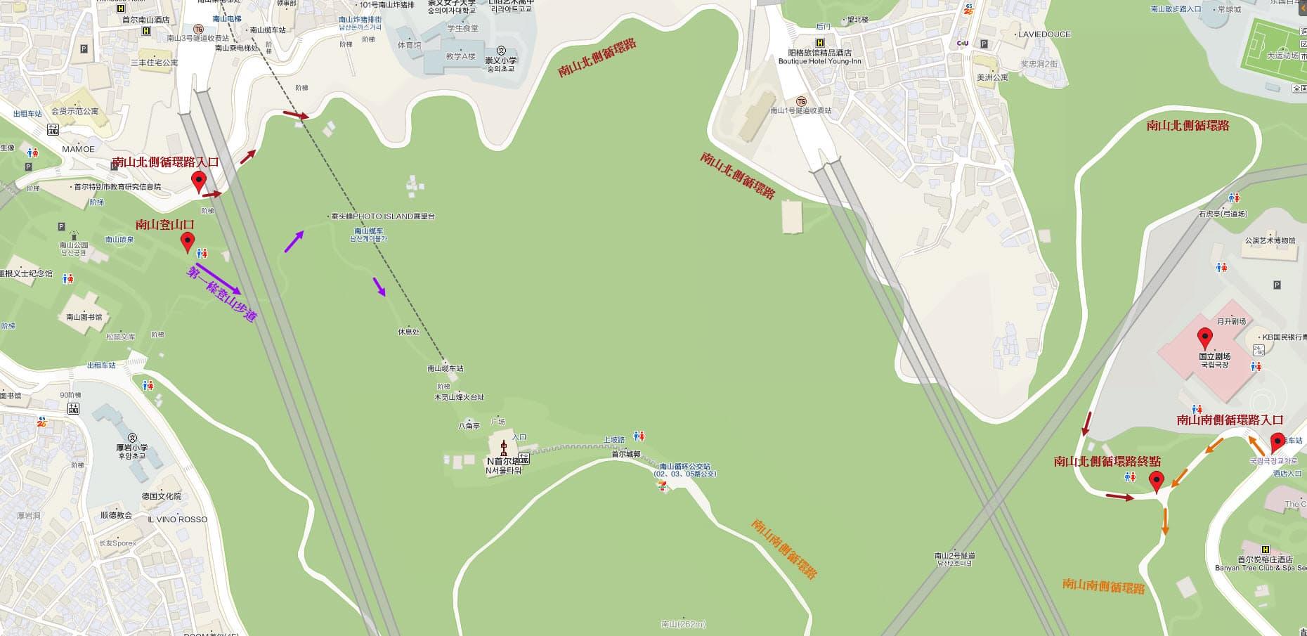 南山北側循環路地圖