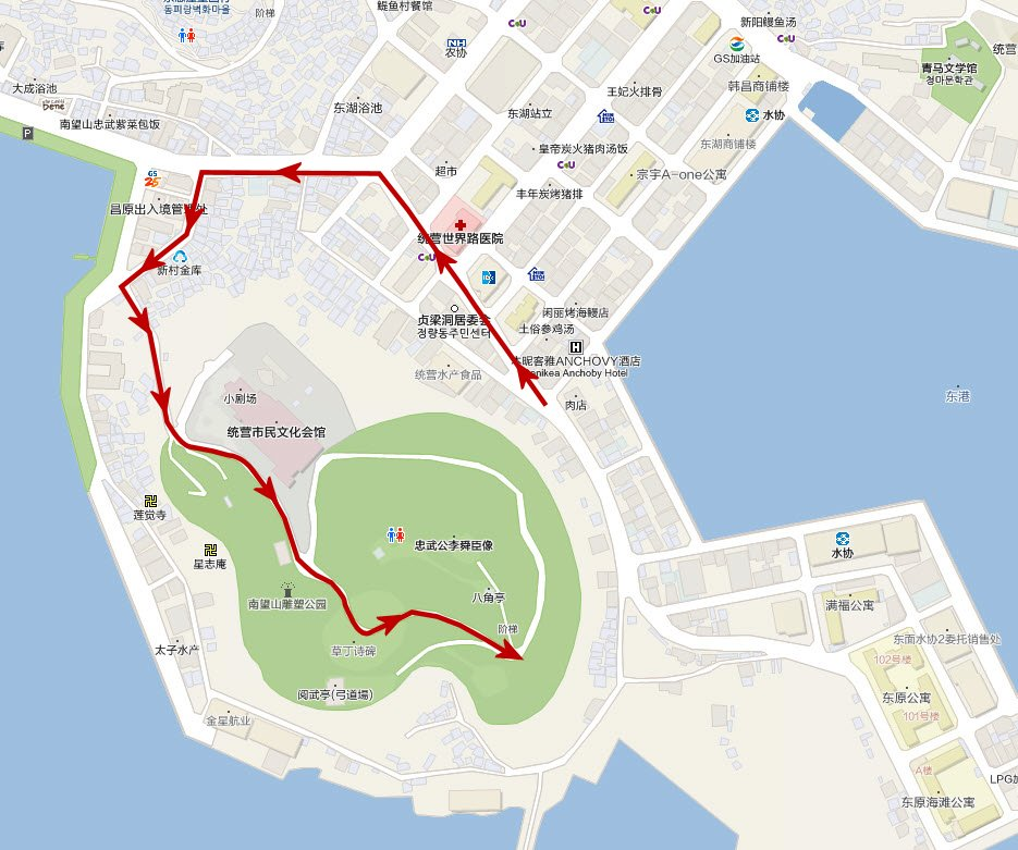 tongyeong-city-walk-route-map-park