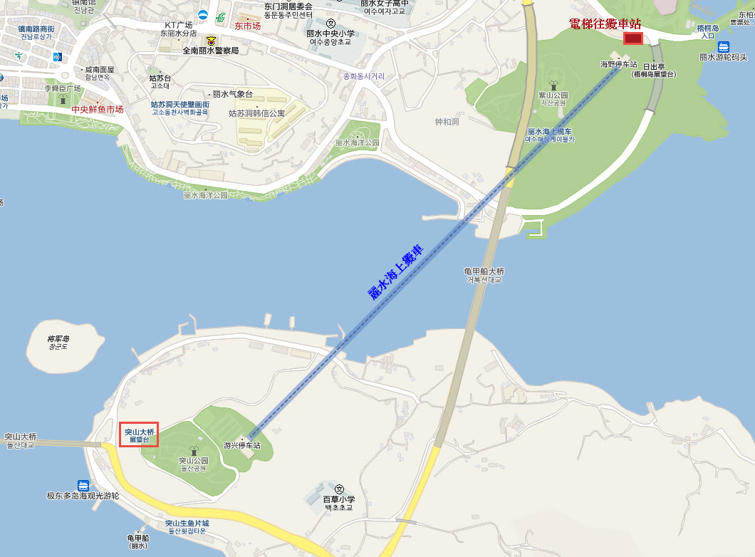 yeosu-marine-cable-car-map