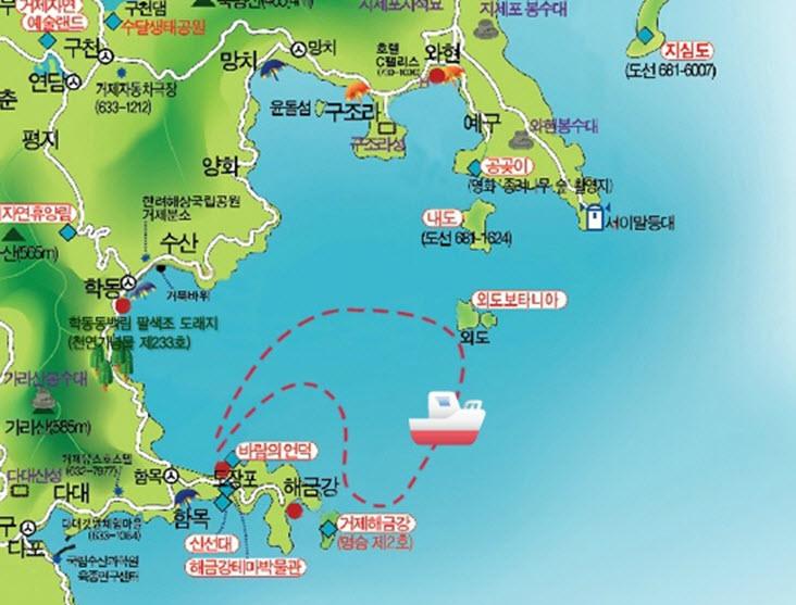 geojedo-oedo-botania-cruise-route