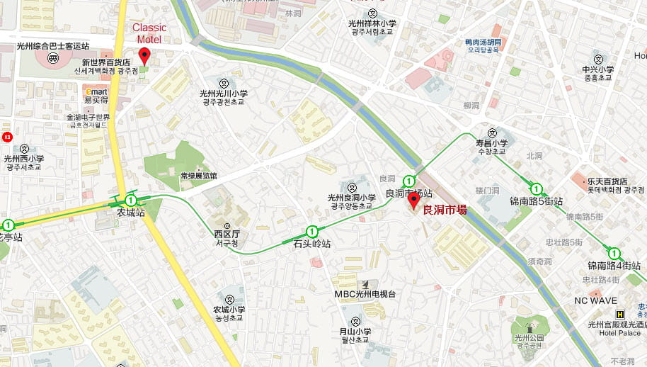 korea-gwangju-yangdong -market-tour-map
