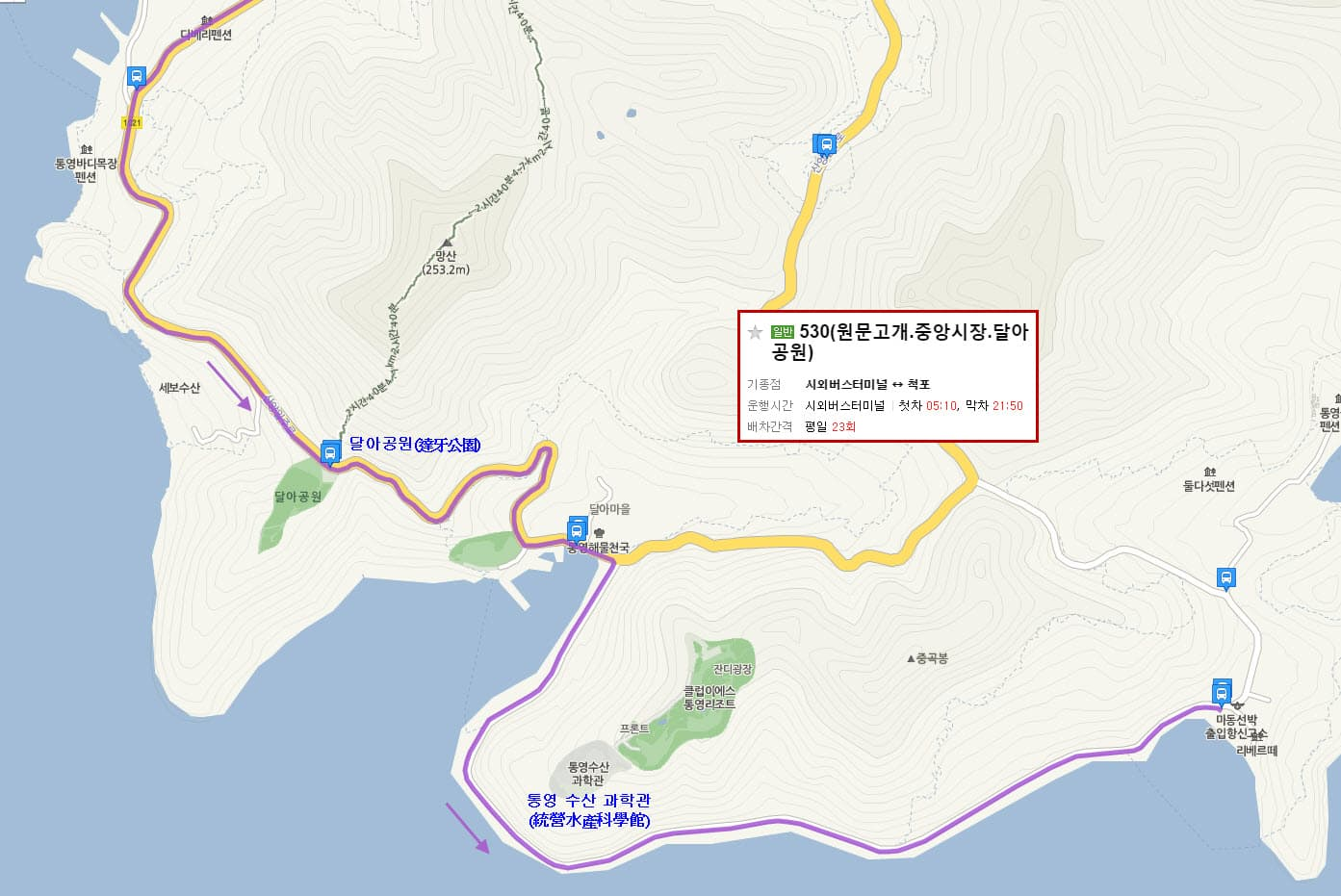 tongyeong-bus-530-route-02