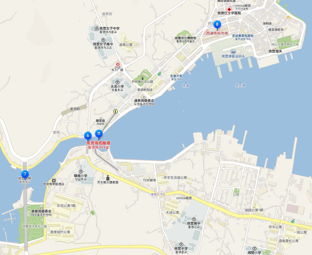 tongyeong-harbour-tour-map-west