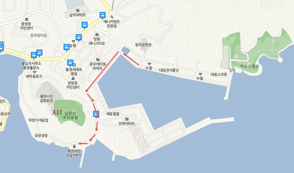 tongyeong-nammangsan-open-air-sculpture-park-map-1