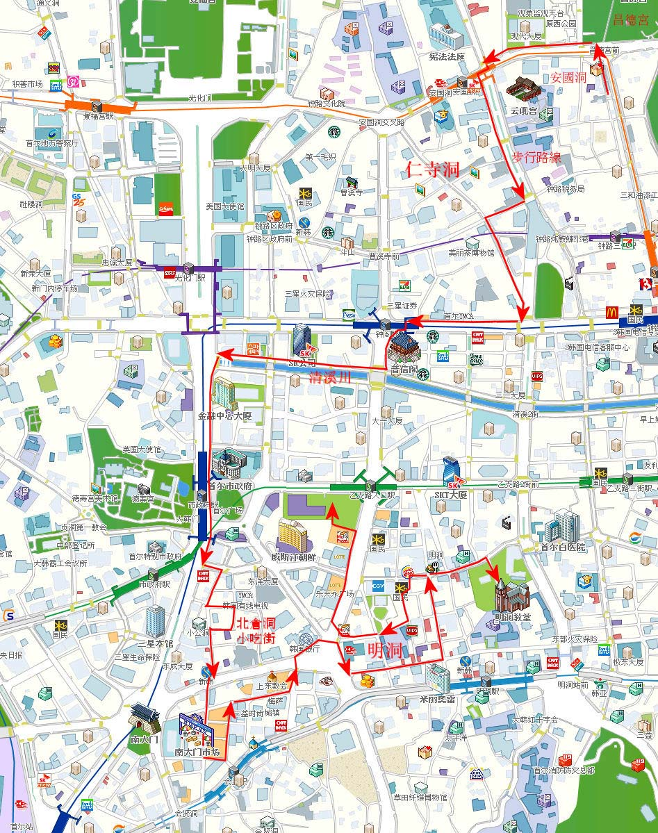 cheonggyecheon-namdaemun-myeongdong-map