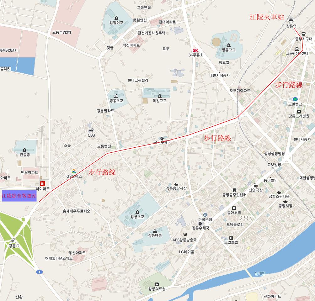 gangneung-rail-station-walk-route