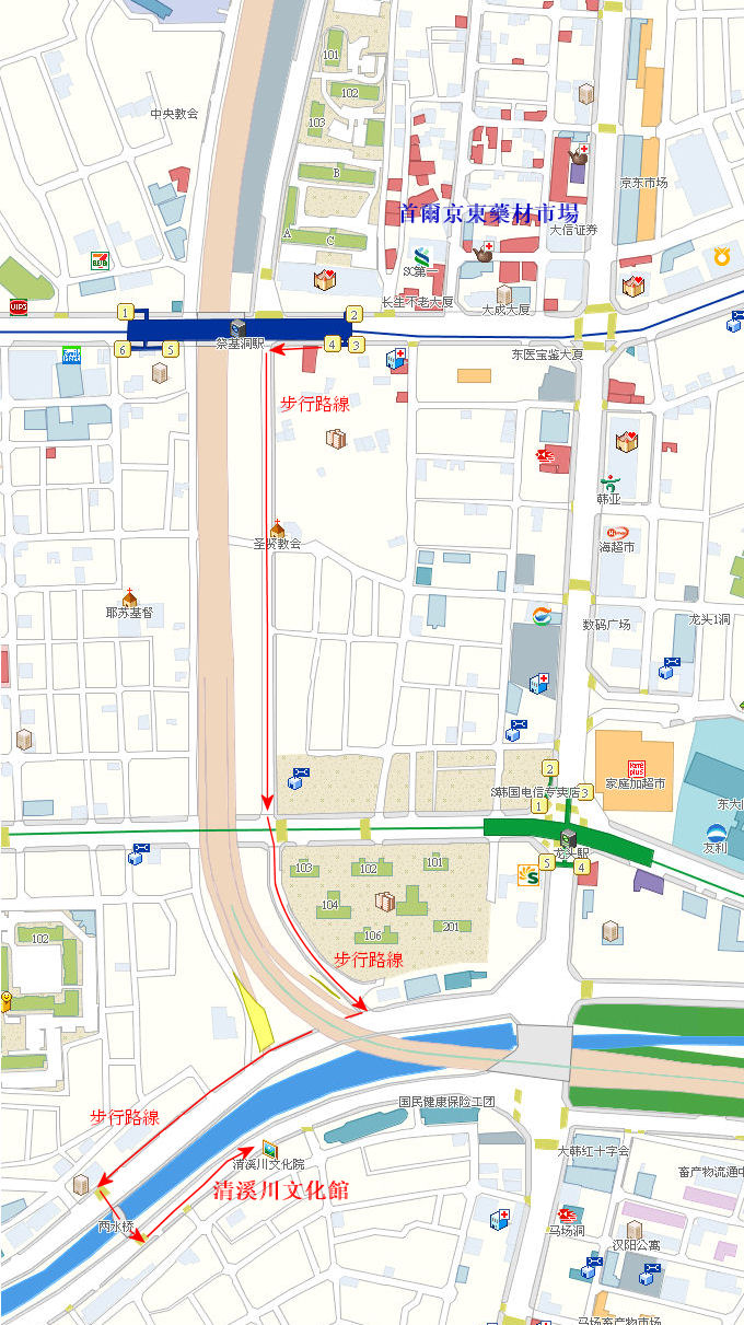 kyungdong-drugstuffs-cheonggyecheon-museum-map