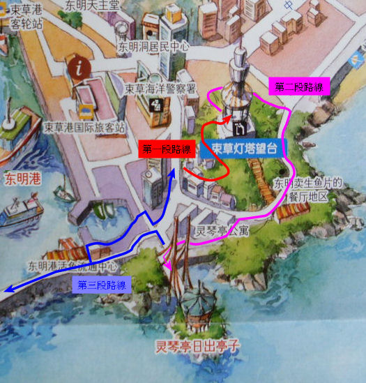 sokcho-light-tower-area-walk-route