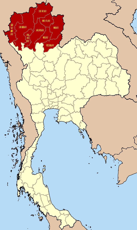 泰國北部、泰北地理