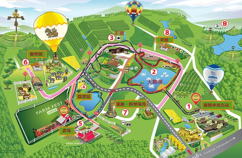 清萊 聖獅公園遊覽車路線