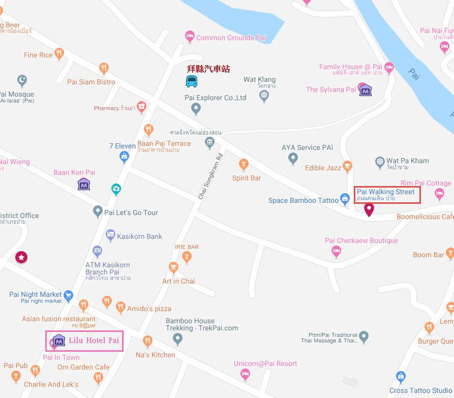 拜縣里盧飯店地圖