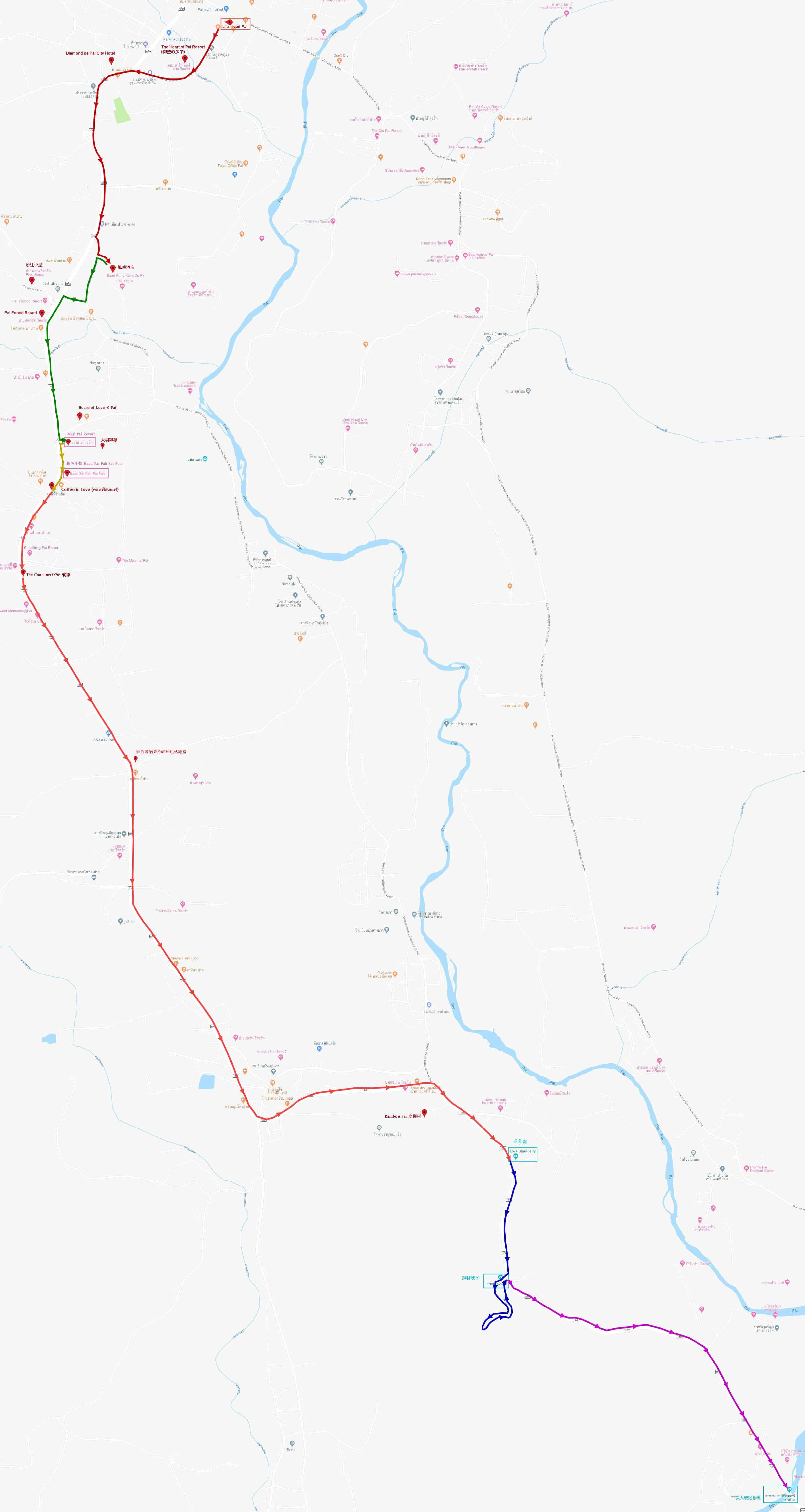 拜縣南行遠足路線地圖