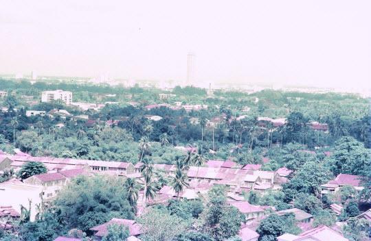 馬來西亞檳城島 極樂寺 眺望喬治市