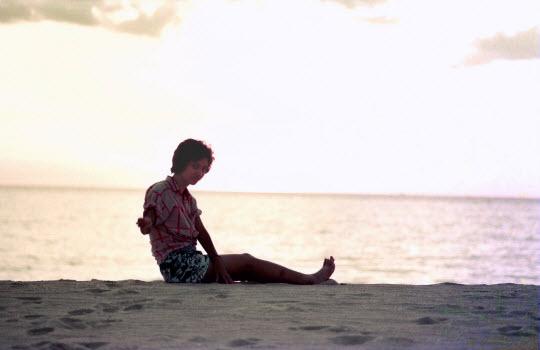 泰國布吉島Ao Karon 沙灘黃昏日落景色