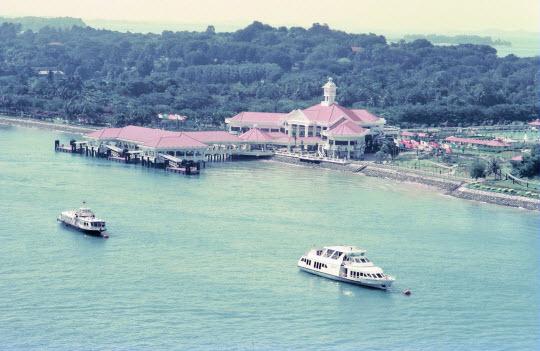 新加坡花芭山 (Mount Fabe)乘吊車到聖淘沙島