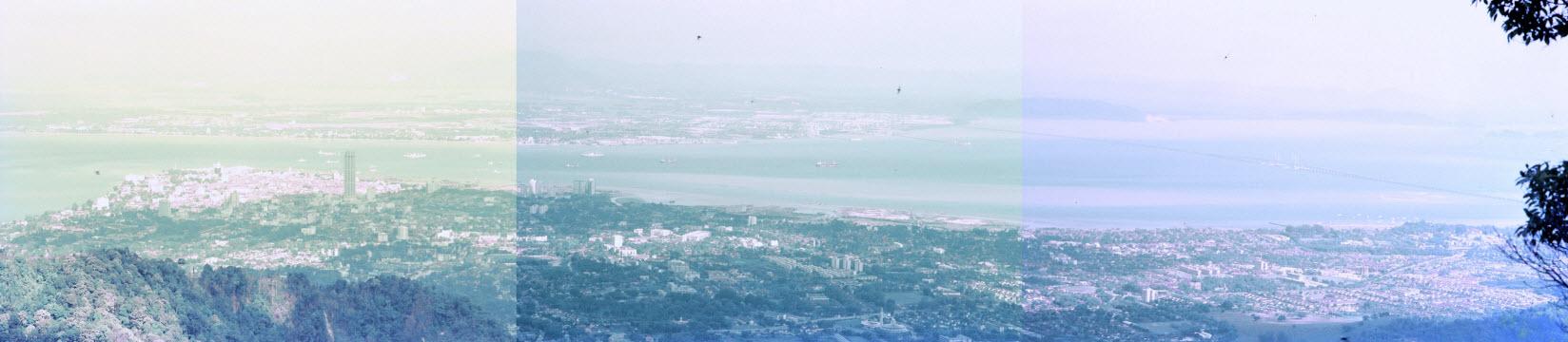 馬來西亞檳城島升旗山 (檳城山) 眺望