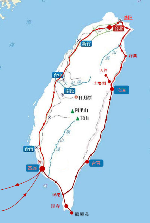taiwan-travel-route