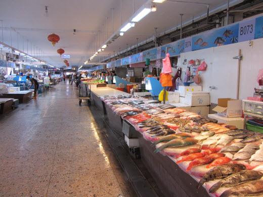 台中梧棲觀光漁港街市