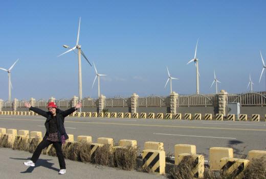 台中梧棲環港北路九號風車群
