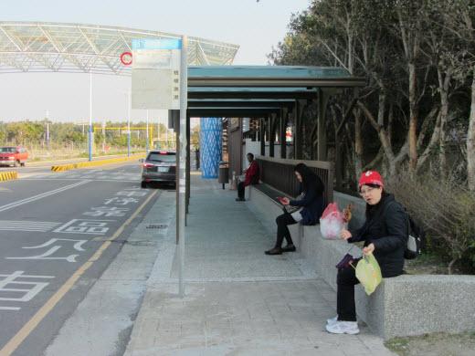 台中梧棲觀光漁港巴士站