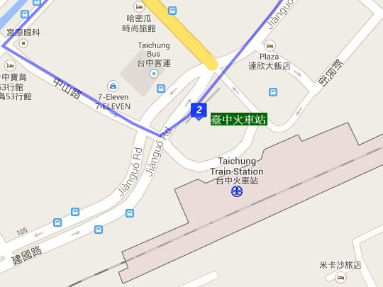 taichung-railway-front-station-bus-stop