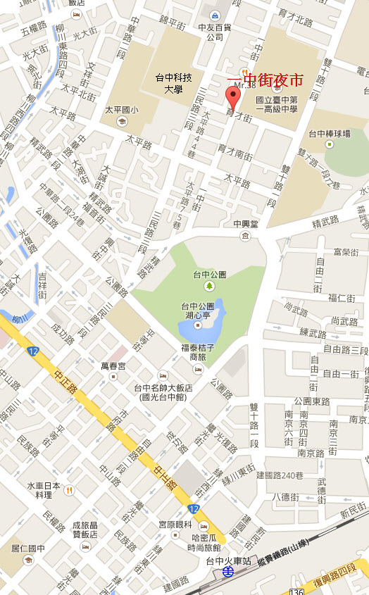 taichung-yizhong-street-night-market-map