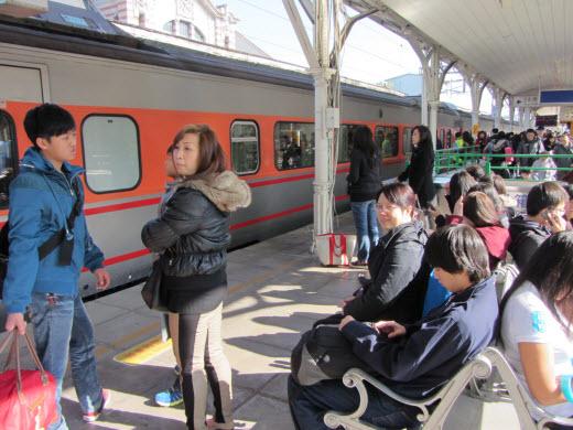 台中火車站月台
