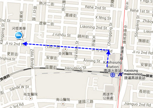 kaohsiung-riverside-hotel-location-map
