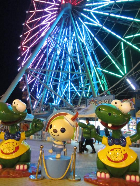 高雄統一夢時代購物中心頂樓遊樂園