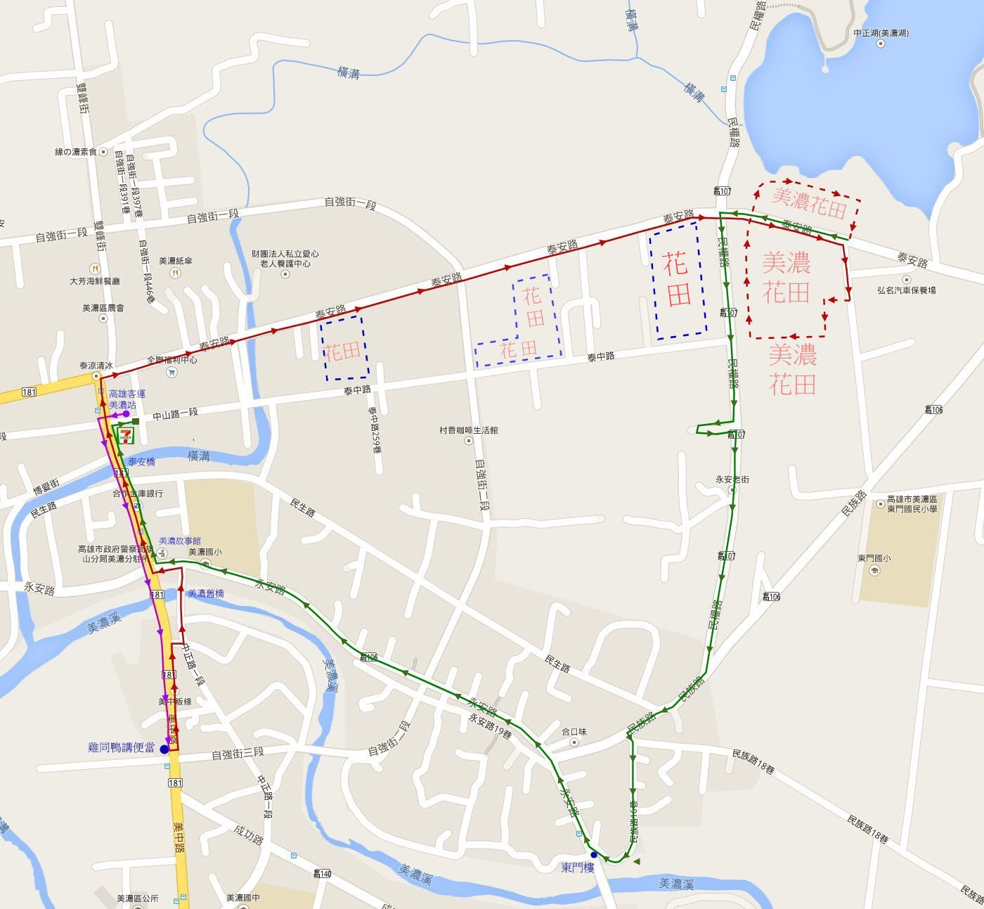 kaohsiung-minong-walk-route-map