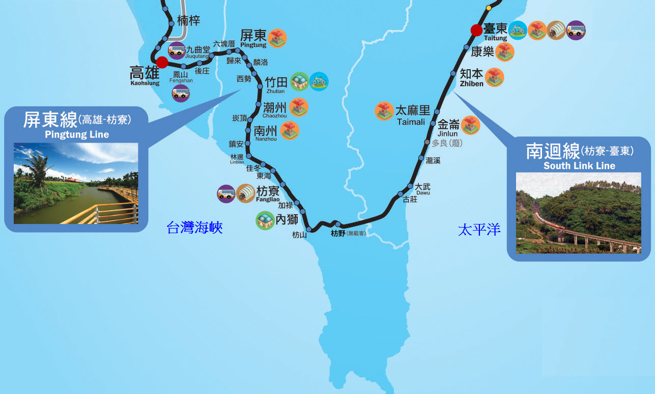 kaohsiung-to-taitung-railway-map