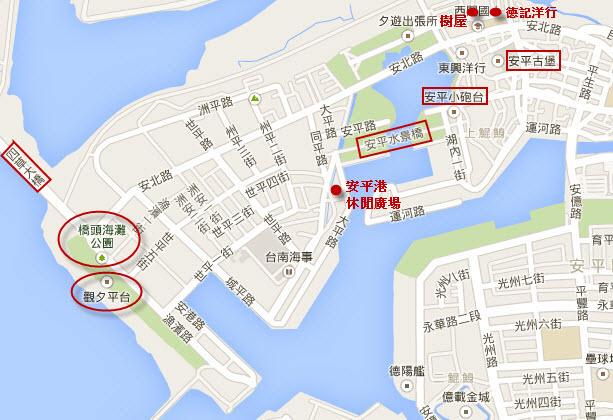 台南安平區地圖