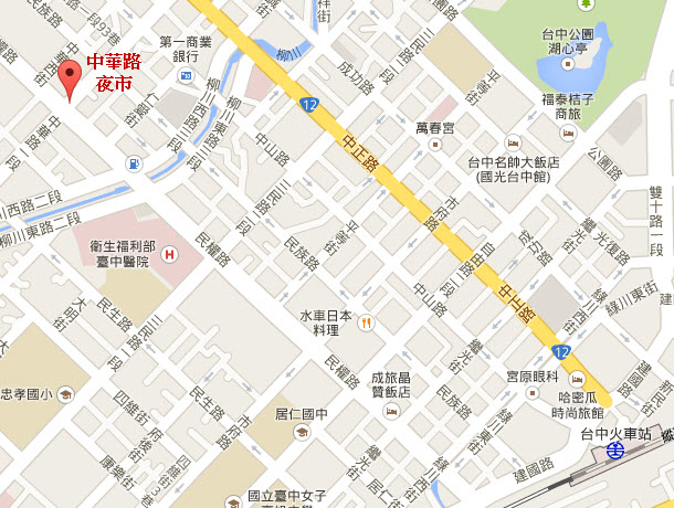 taichung-chunghua-night-market-map
