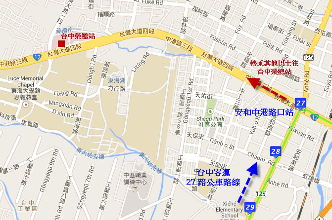 taichung-luce-memorial-chapel-bus-route