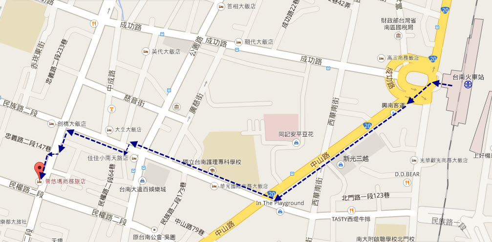 tainan-railway-station-walk-to-puyuma-hotel