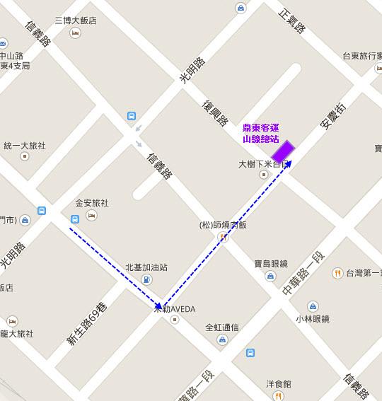 台東 鼎東客運山線總站 地圖