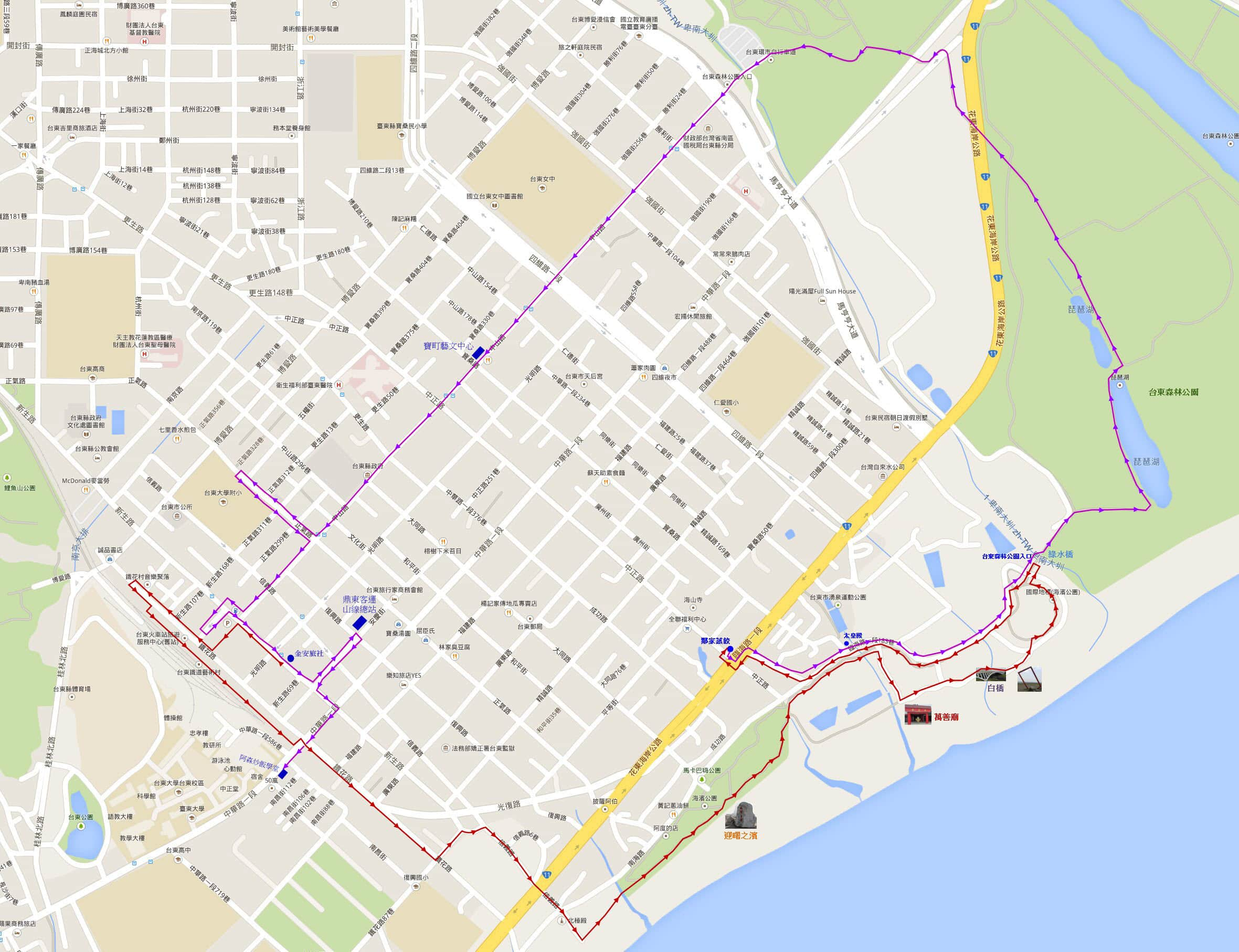 taitung-seashore-park-forest-park-walk-route