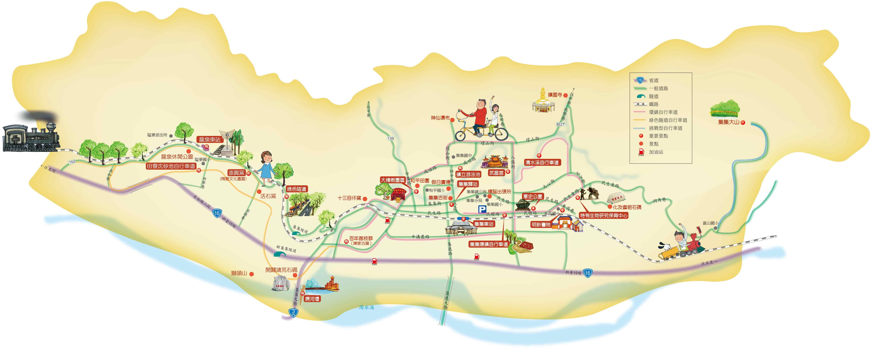 集集旅遊地圖