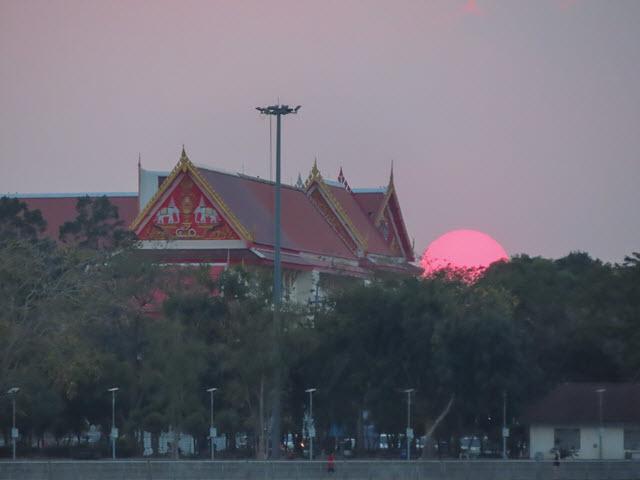 孔敬大湖公園 Wat That 黃昏日落景色