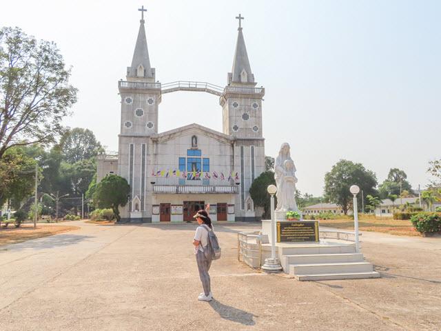 那空拍儂 Nakhon Phanom 湄公河畔 Saint Anna Nong Saeng Church