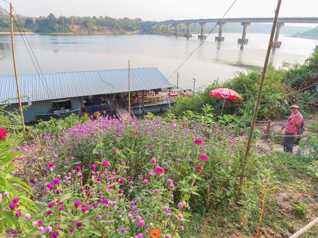 Khong Chiam 月河上 แพลำโขง 船屋餐廳
